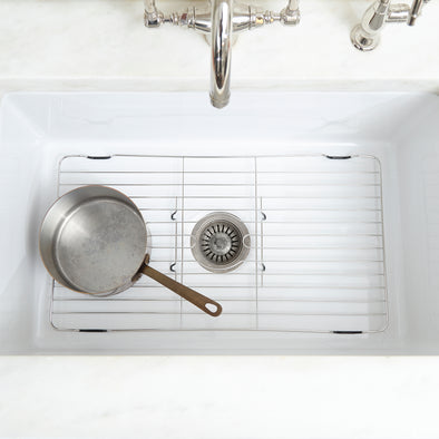 Stainless Steel Sink Protector (Coated Feet)