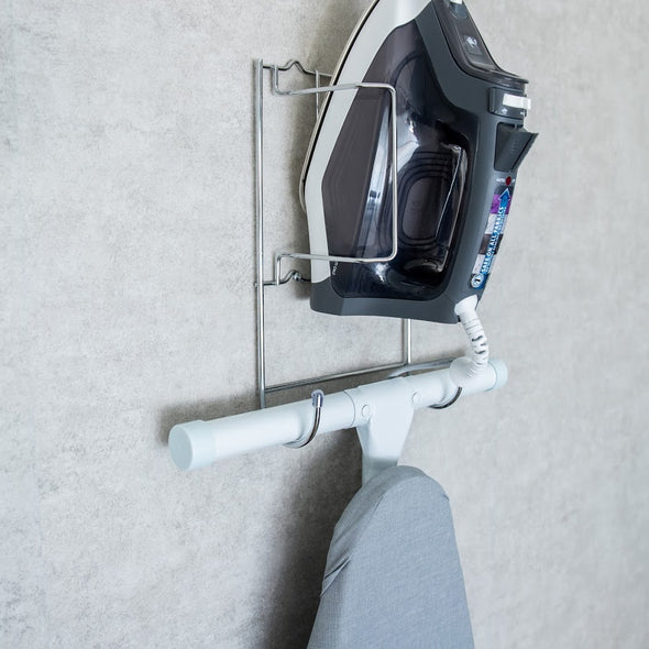 Iron & Ironing Board Holder
