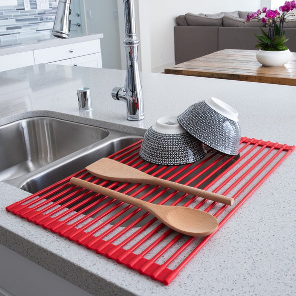 Over-The-Sink Roll-Up Drying Rack