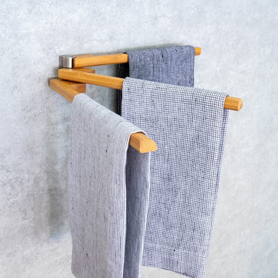 Bamboo 3-Arm Towel Bar