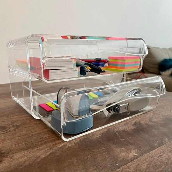 Crystal Clear 2-Drawer Organizer