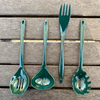4 Piece Melamine Cooking Tools - Hunter Green