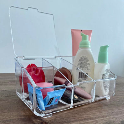 Crystal Clear Organizer with Lid