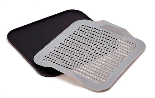 A Gray Silicone Drying Mat