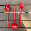 3 Piece Melamine Cooking Tools - Cranberry
