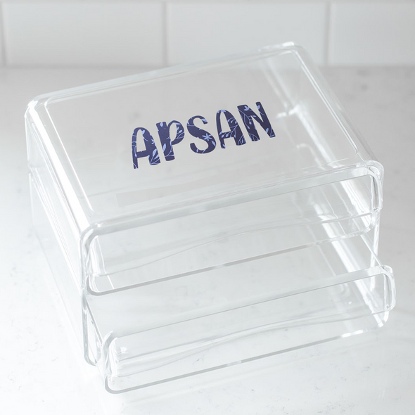 Acrylic 2-Drawer Organizer- Personalized