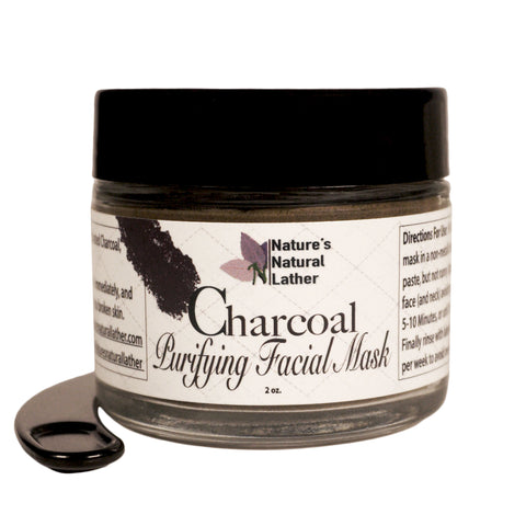 Nature's Natural Lather Activated Charcoal Purifying Facial Mask is designed to gently purify the skin by removing dirt and excess sebum while helping keep skin balanced and healthy. Formulated with powerful non-irritating ingredients such as oil balancing Rhassoul Clay, detoxifying Activated Charcoal, anti-inflammatory Spirulina, and high in antioxidant-rich Turmeric, our face mask is as effective as it is relaxing for both your skin and spirit.
