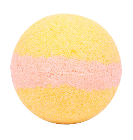 Nature's Natural Lather Honey Suckle Bath Bomb will remind you of summertime during any season. It gives off a pleasant honeysuckle scent with a gentle pastel yellow and orange color that' s sure to relax and soothe after a long day.