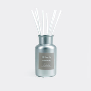 Happy home reed diffuser chorme jar with sticks by Refresh