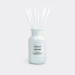 Happy home reed diffuser white jar with sticks by Refresh