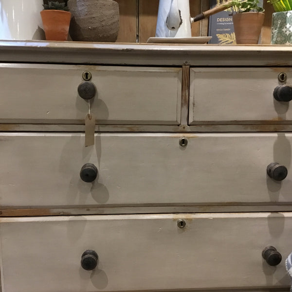19th c Painted Pine Dresser