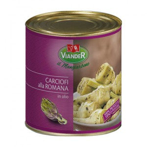 Viander Whole Artichokes with Stem in Oil 3kg