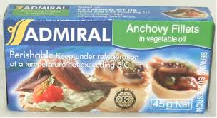 Anchovy Fillets in Sunflower Oil 45g