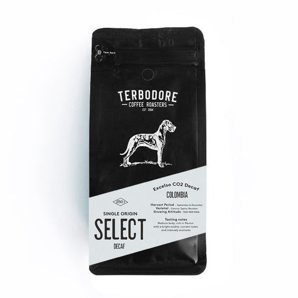 Terbodore CO2 Decaf Coffee Beans 250g