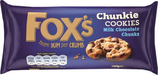 Fox's Milk Chocolate Chunk Cookie 180g