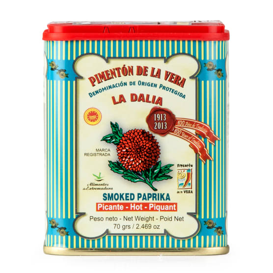 La Dalia Hot Smoked Spanish Paprika DOP 70g