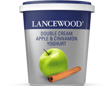 Lancewood Double Cream Apple & Cinnamon Yoghurt 500g