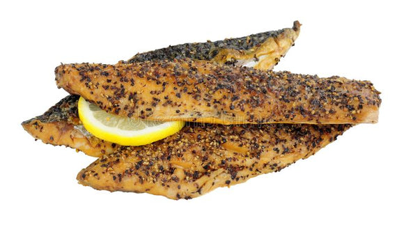 Hot Smoked Peppered Mackerel 200g