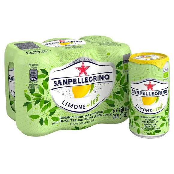 San Pellegrino Organic Lemon Ice Tea - 6 x 250ml