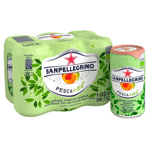 San Pellegrino Organic Peach Ice Tea - 6 x 250ml