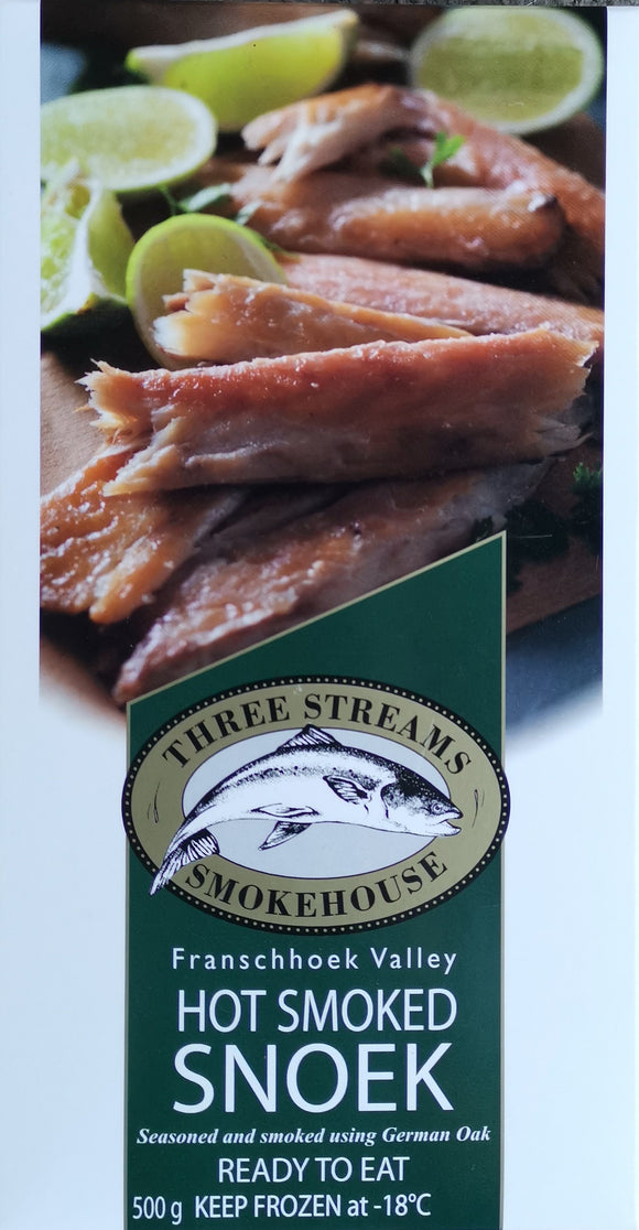 Three Streams Hot Smoked Snoek 1kg