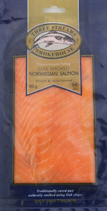 Three Streams Oak Smoked Norwegian Salmon Ribbons 80g