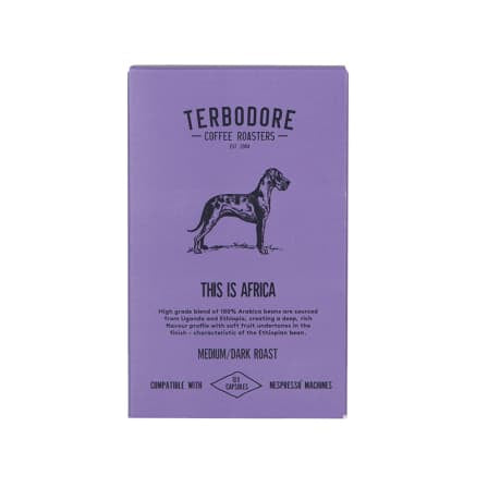Terbodore This is Africa Coffee Capsules 10 Per Box