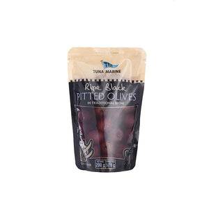 Tuna Marine Pitted Black Olives 180g