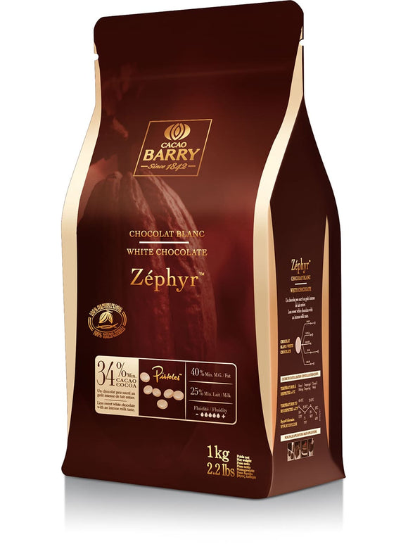 Cacao Barry Zephyr 34% White Chocolate 1kg