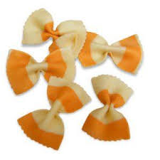 Orange & White Farfalle 250g