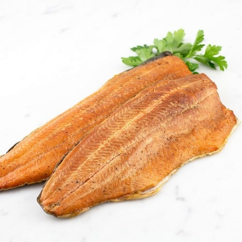 Hot Smoked Rainbow Trout Sides ±550g
