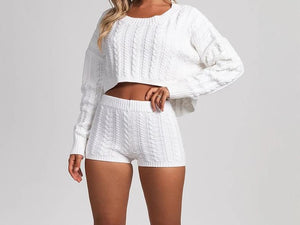 Sweater Shorts Set - Im Good Luv