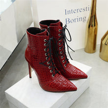 Load image into Gallery viewer, Faux Alligator Boots - Set the Record