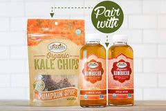Sprouts Pumpkin Spice Kale Chips and Kombucha