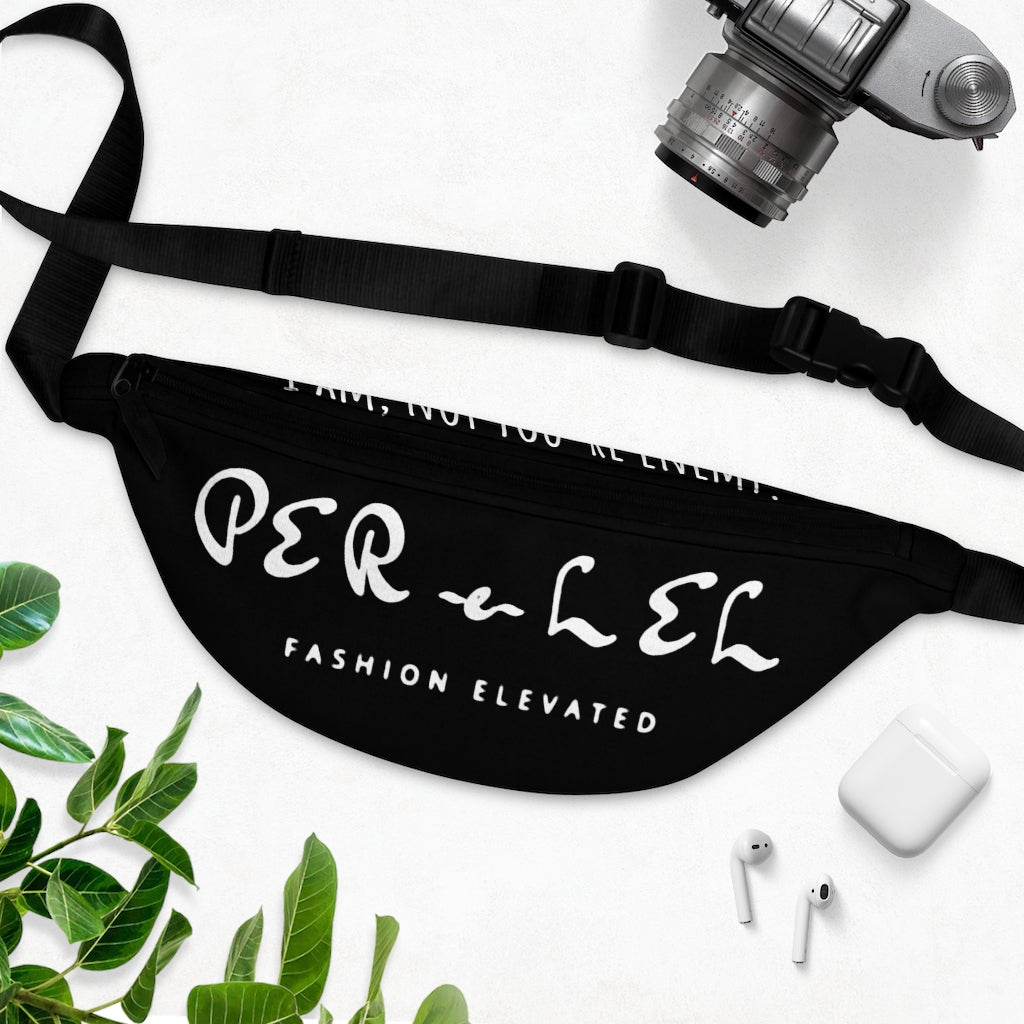 Black and white PFE Fanny Pack