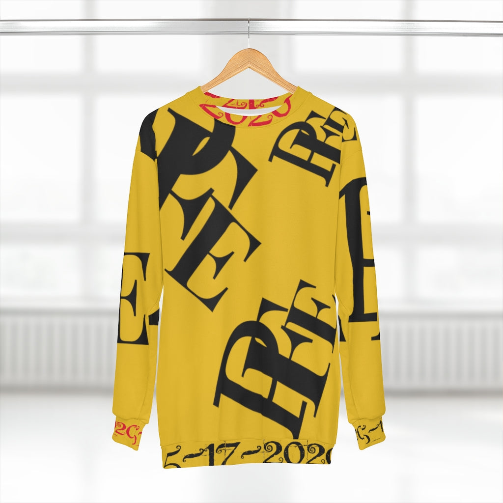 Yellow and Black Per-e-LEL Unisex Sweatshirt