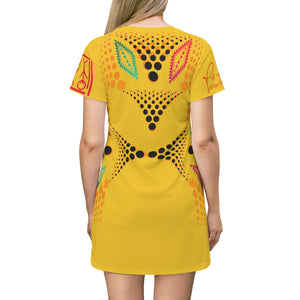 P.F.E, Vortex Custom Dress-Yellow