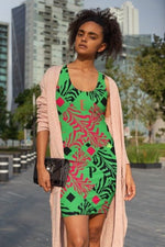 Load image into Gallery viewer, P.F.E Pattern Dress-Green