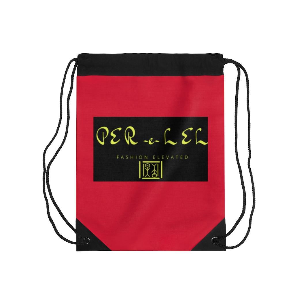 Red & Black Drawstring Bag