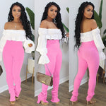 Load image into Gallery viewer, Sexy Women Two Piece Set /Stretch Knitted Trousers Jogger Autumn Suit