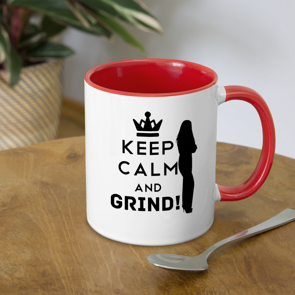 GRIND Coffee Mug - white/red