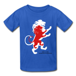 Load image into Gallery viewer, LION- Gildan Ultra Cotton Youth T-Shirt - royal blue