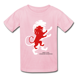Load image into Gallery viewer, LION- Gildan Ultra Cotton Youth T-Shirt - light pink