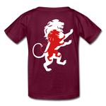 Load image into Gallery viewer, LION- Gildan Ultra Cotton Youth T-Shirt - burgundy