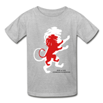 Load image into Gallery viewer, LION- Gildan Ultra Cotton Youth T-Shirt - heather gray