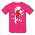 Load image into Gallery viewer, LION- Gildan Ultra Cotton Youth T-Shirt - fuchsia