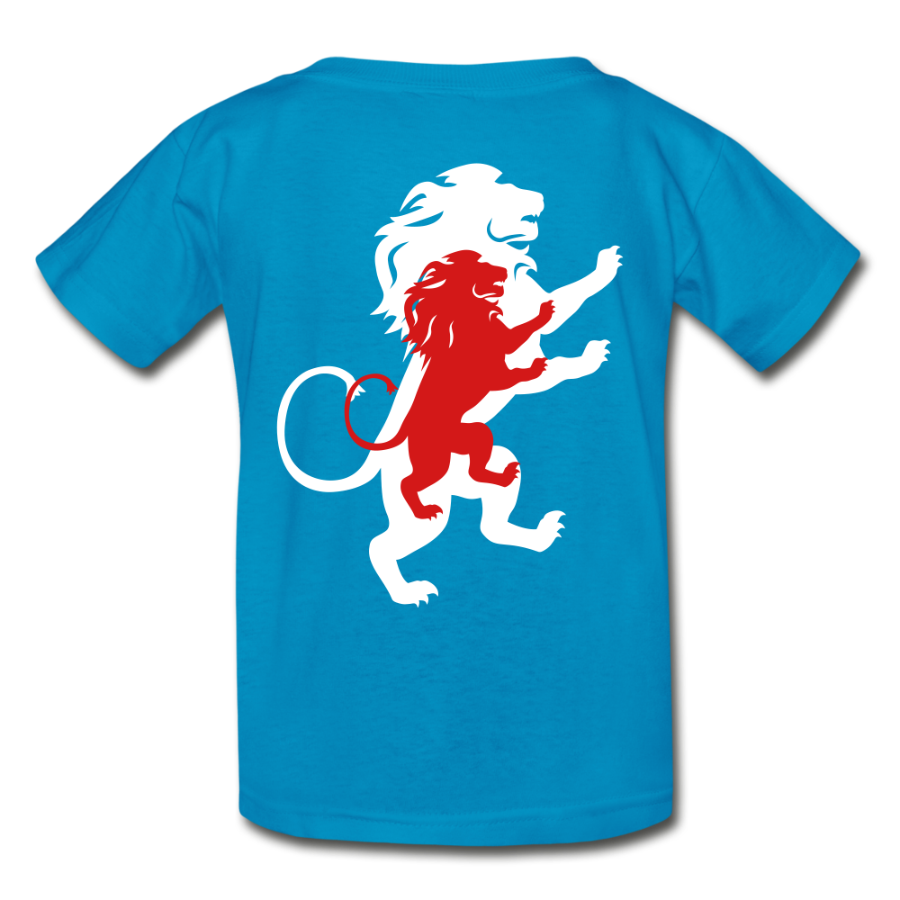 LION- Gildan Ultra Cotton Youth T-Shirt - turquoise