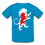 Load image into Gallery viewer, LION- Gildan Ultra Cotton Youth T-Shirt - turquoise