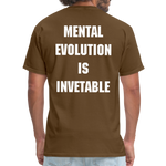 Load image into Gallery viewer, MENTAL EVOLUTION Unisex Classic T-Shirt - brown