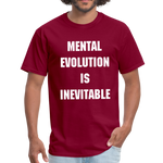Load image into Gallery viewer, MENTAL EVOLUTION Unisex Classic T-Shirt - burgundy